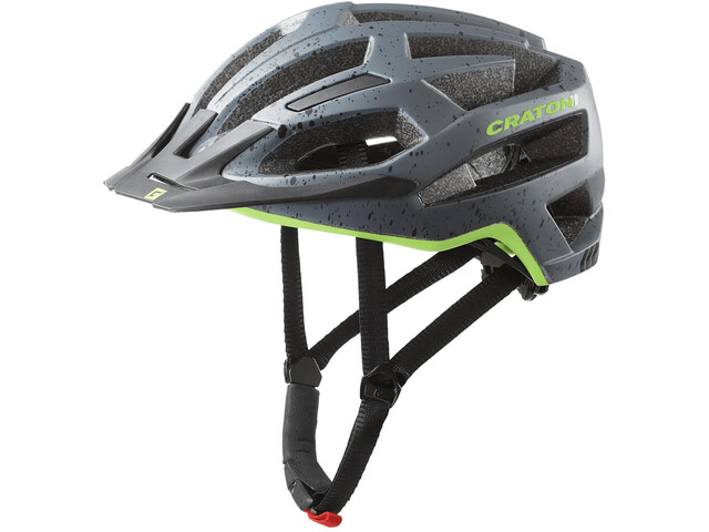 Cratoni C-Flash MTB Helm, grey/lime matte